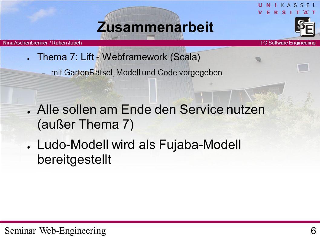 Seminar Web-Engineering Nina Aschenbrenner / Ruben Jubeh 7 FG Software Engineering Beispielanwendung 1: Ludo
