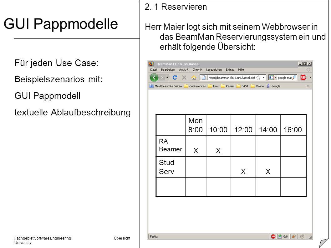 Fachgebiet Software Engineering Übersicht © 22.01.2014 Albert Zündorf, Kassel University Coverage Prüfung m Manuell Szenarios durchgehen l funktioniert dieser Schritt.