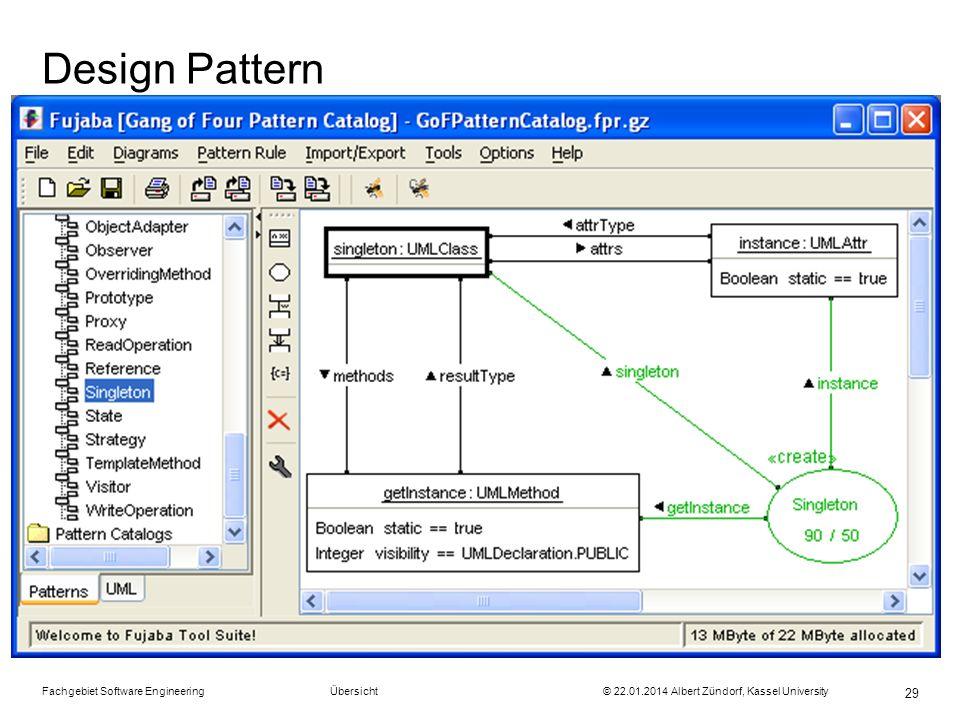 Fachgebiet Software Engineering Übersicht © 22.01.2014 Albert Zündorf, Kassel University 29 Design Pattern