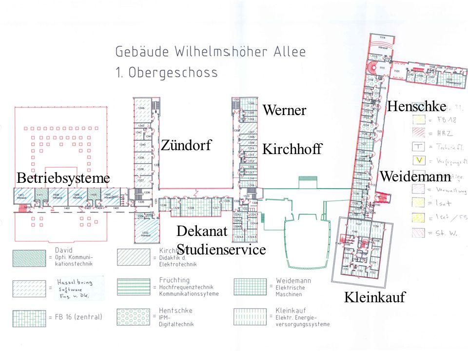 Betriebsysteme Zündorf Werner Kirchhoff Kleinkauf Weidemann Henschke Dekanat Studienservice