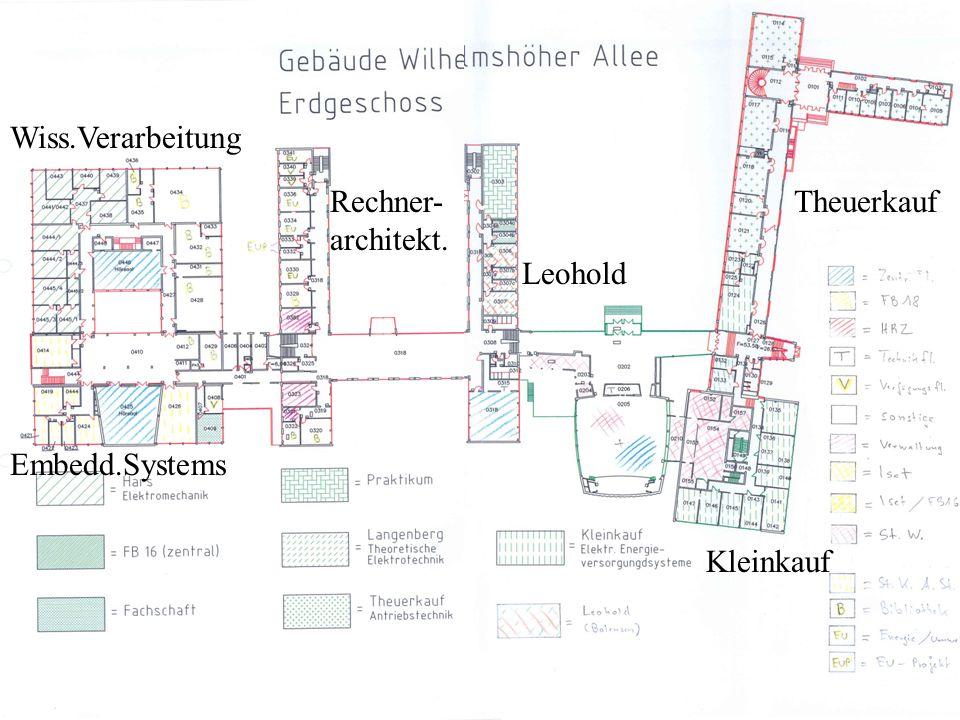 Wiss.Verarbeitung Rechner- architekt. Embedd.Systems Leohold Kleinkauf Theuerkauf
