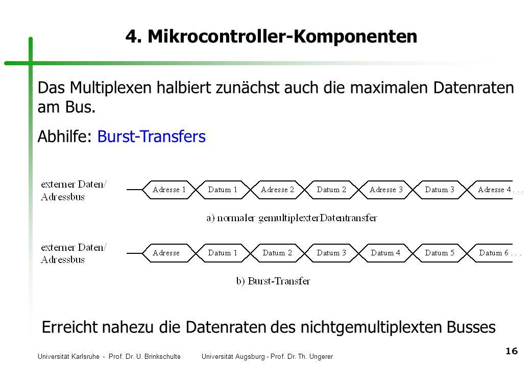 Universität Karlsruhe - Prof. Dr. U. Brinkschulte Universität Augsburg - Prof. Dr. Th. Ungerer 16 4. Mikrocontroller-Komponenten Das Multiplexen halbi