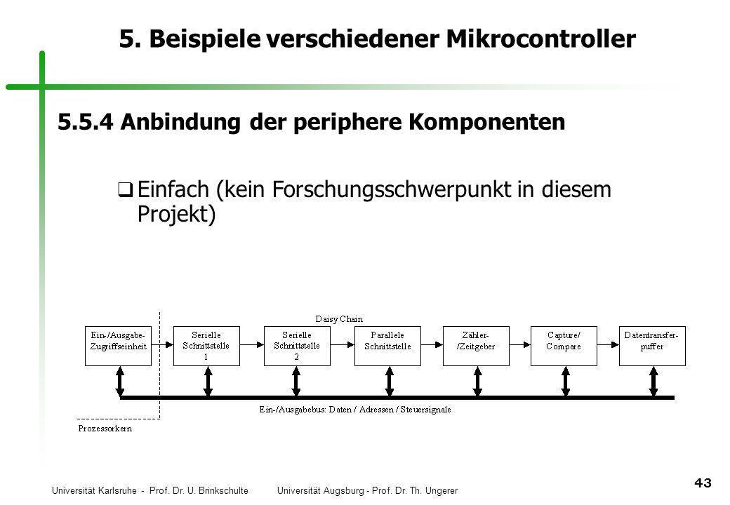 Universität Karlsruhe - Prof. Dr. U. Brinkschulte Universität Augsburg - Prof. Dr. Th. Ungerer 43 5. Beispiele verschiedener Mikrocontroller 5.5.4 Anb