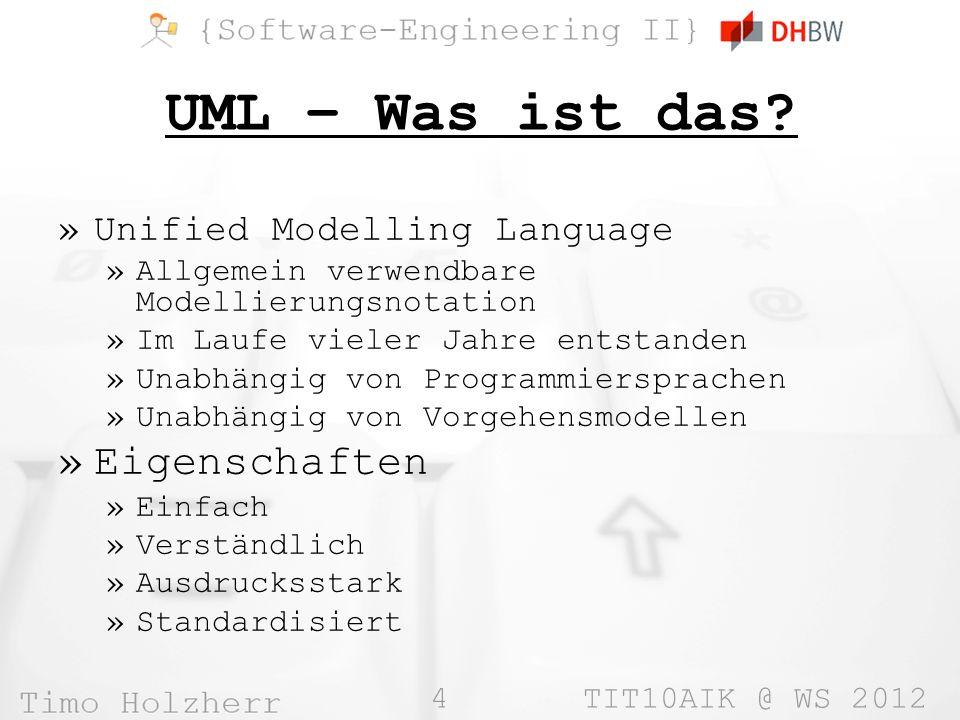 4 TIT10AIK @ WS 2012 UML – Was ist das.