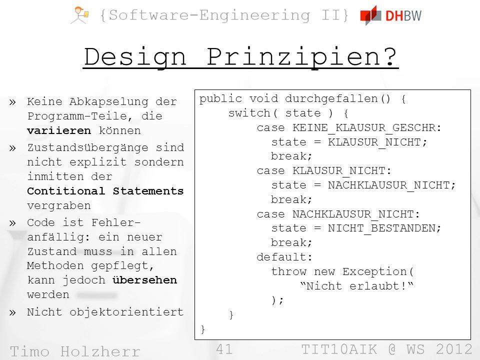 41 TIT10AIK @ WS 2012 Design Prinzipien.