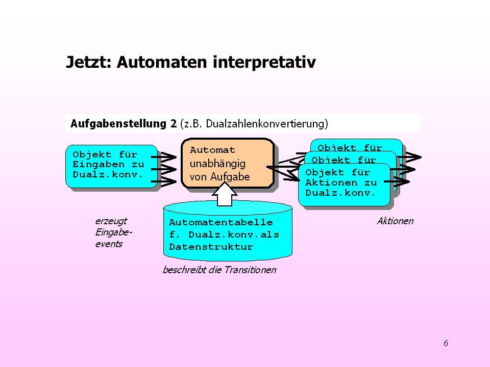 6 Jetzt: Automaten interpretativ