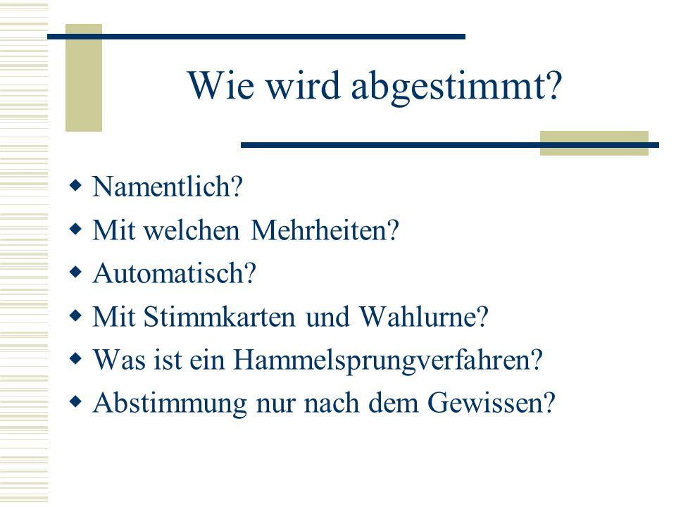 Dritte Lesung im Bundestag: An die zweite schließt sich zumeist sofort die dritte Lesung an, in der nochmals die grundsätzlichen Probleme erörtert werden, bei herausragenden Gesetzesvorhaben in Reden von Spitzenpolitikern, deren Adressat die Öffentlichkeit ist.