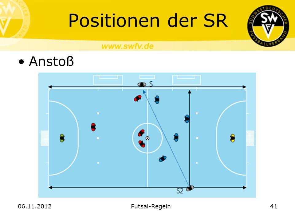 Positionen der SR Anstoß 06.11.2012Futsal-Regeln41