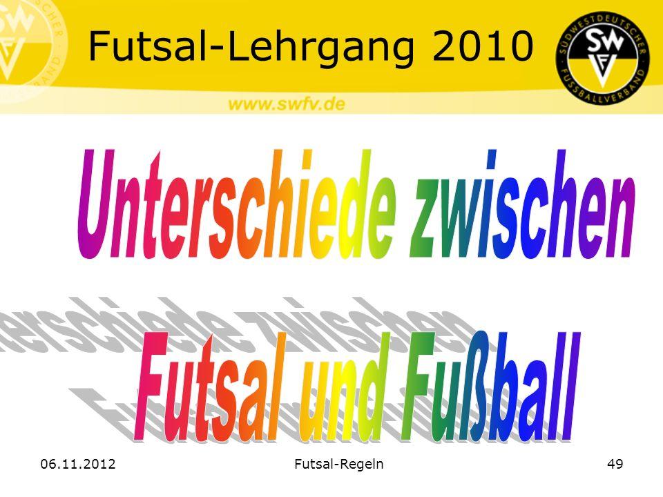 Futsal-Lehrgang 2010 06.11.2012Futsal-Regeln49