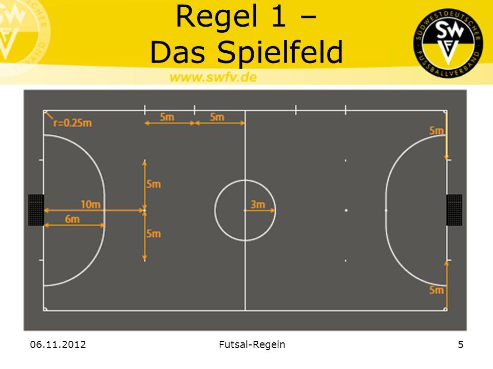 Regel 1 – Das Spielfeld 06.11.2012Futsal-Regeln5