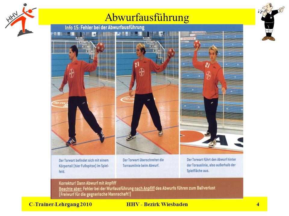 C-Trainer-Lehrgang 2010 HHV - Bezirk Wiesbaden 4 Abwurfausführung