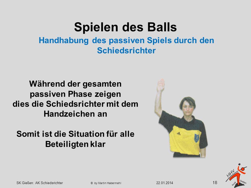 Spielen des Balls Der Ball nach einem durch einen Abwehrspieler abgewehrten Wurf zur angreifenden Mannschaft zurück gelangt !.