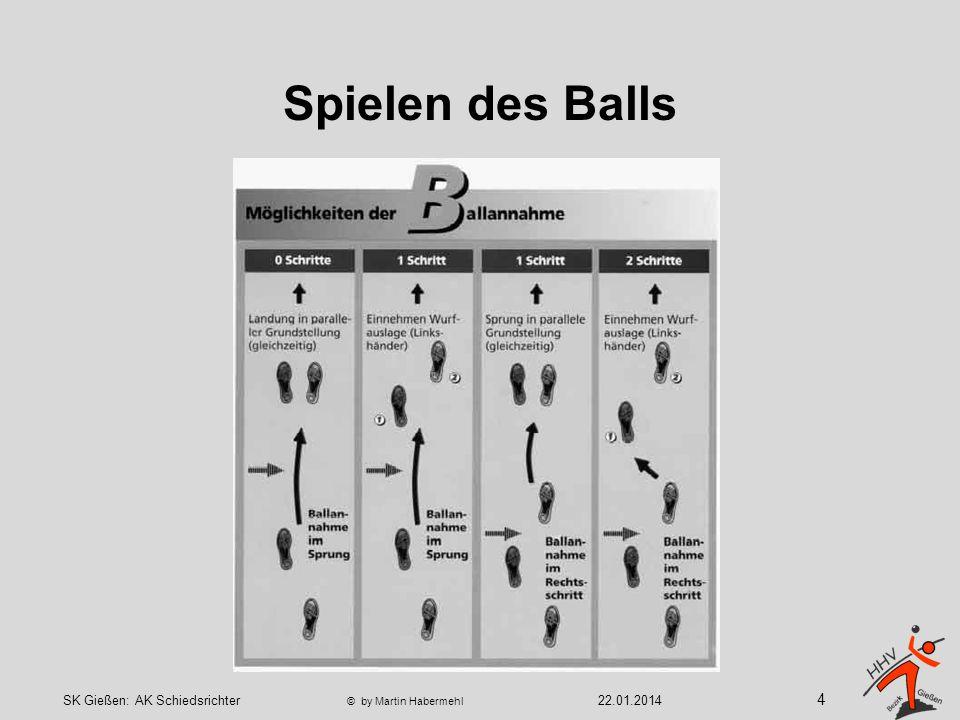 Spielen des Balls In besonderen Situationen (z.B.