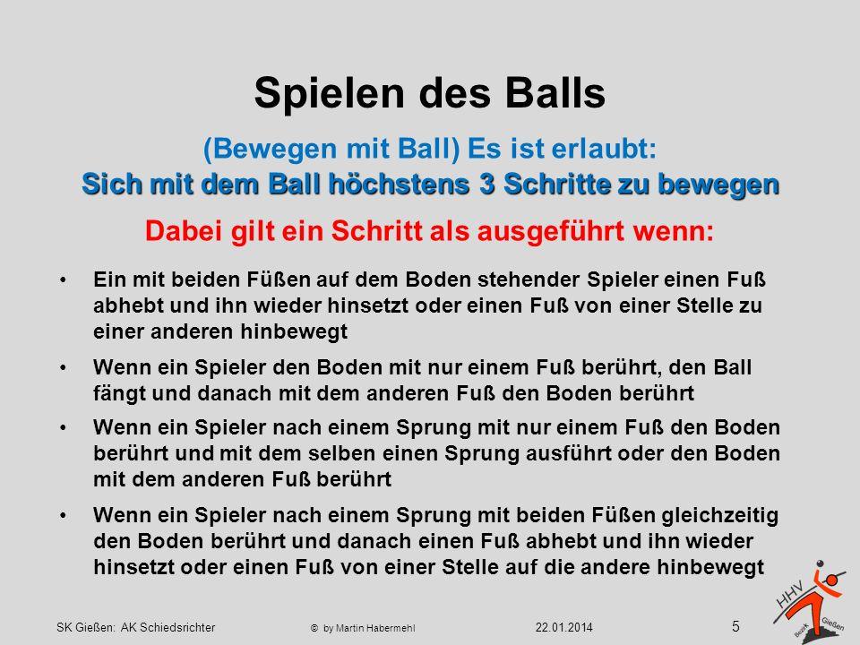 Spielen des Balls Spielerwechsel nach einem begonnenem Spielaufbau (nicht nach 1./2.