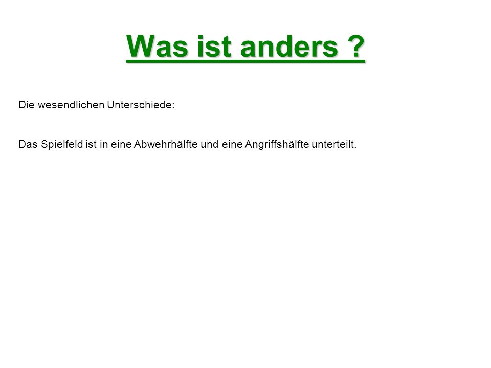 Was ist anders .