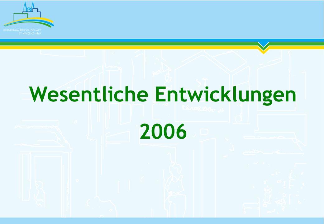 Einführung eines Leitbildes März 2006 Zertifizierung der KH-Gesellschaft St.