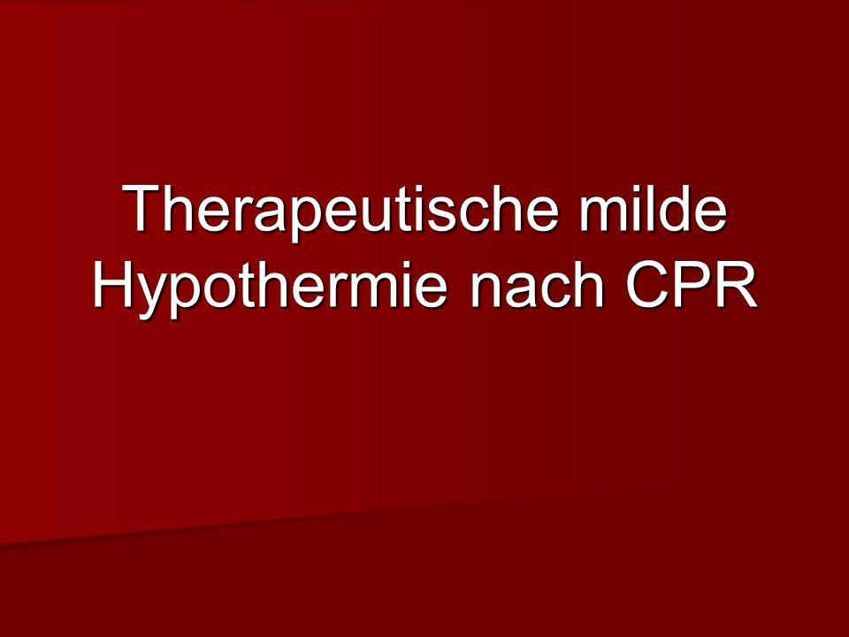 Therapeutische milde Hypothermie nach CPR