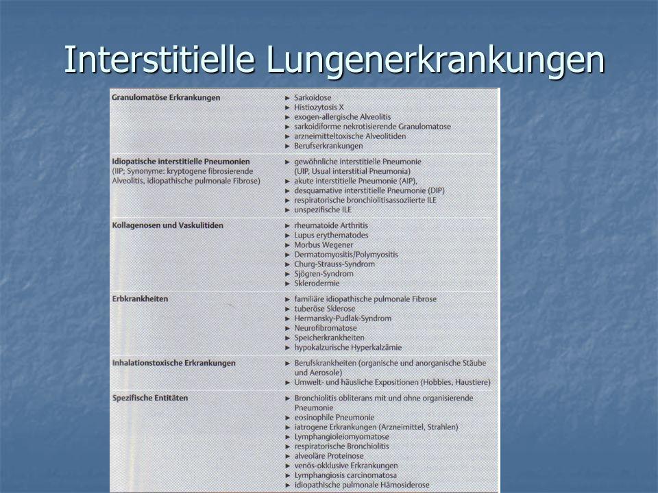 Warum Subtypeneinteilung bei idiopathischer interstitieller Pneumonie.
