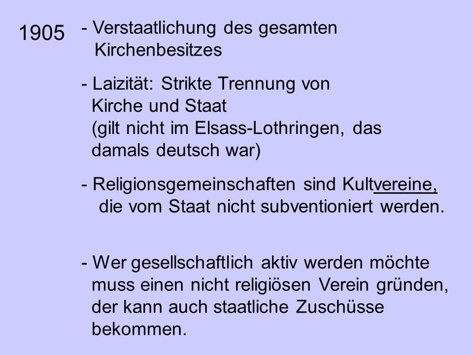 - Religionsgemeinschaften sind Kultvereine, die vom Staat nicht subventioniert werden.
