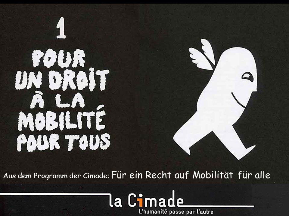 Aus dem Programm der Cimade: Für ein Recht auf Mobilität für alle