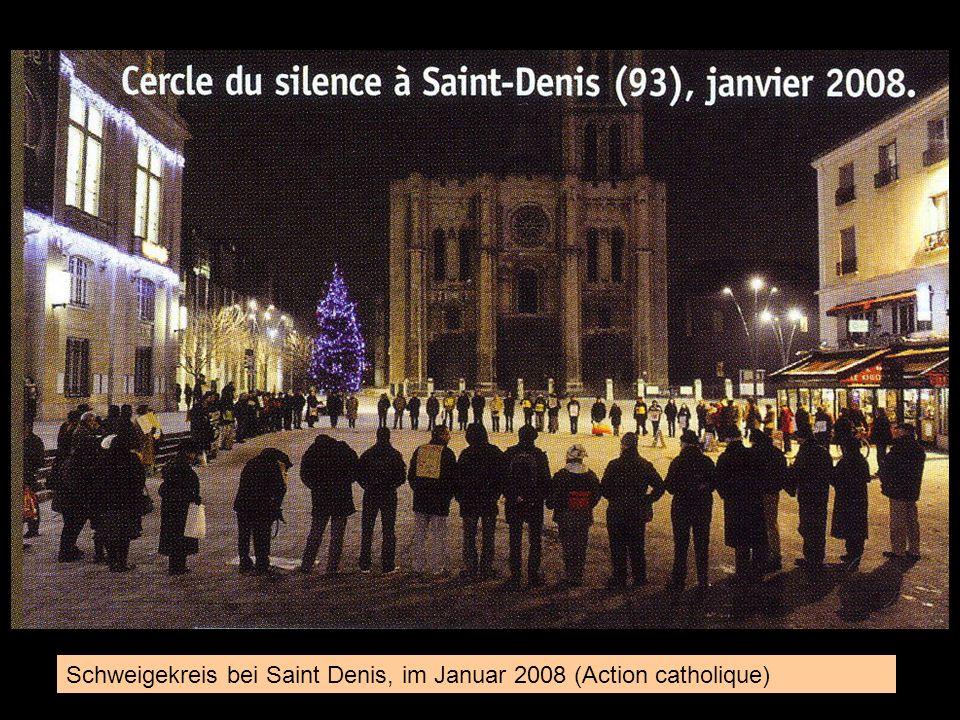 Schweigekreis bei Saint Denis, im Januar 2008 (Action catholique)