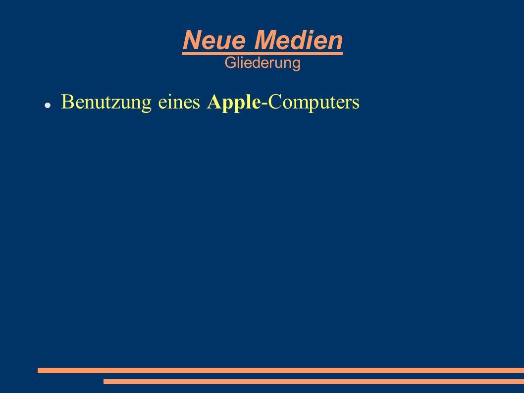 Benutzung eines Apple-Computers
