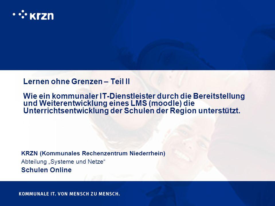 ein Dienstleistungsbetrieb für Gemeinden, Städte und Kreise (www.krzn.de) Standort: 47475 Kamp-Lintfort Wir (ca.