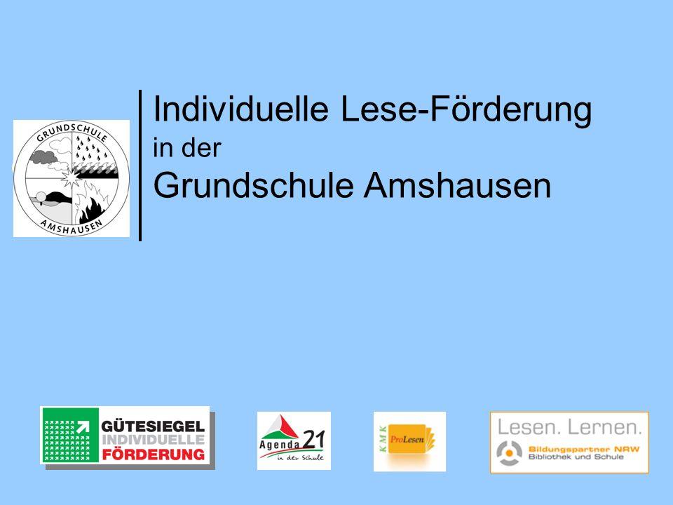 Individuelle Lese-Förderung in der Grundschule Amshausen