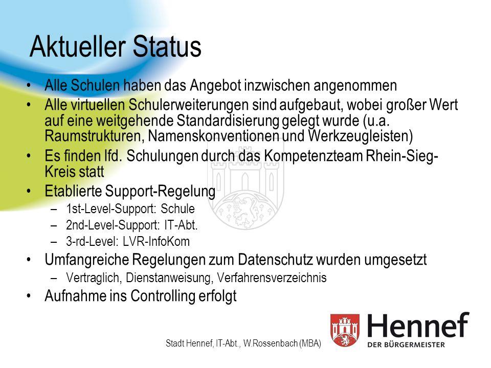 Stadt Hennef, IT-Abt., W.Rossenbach (MBA) Nrwir.de - Administration
