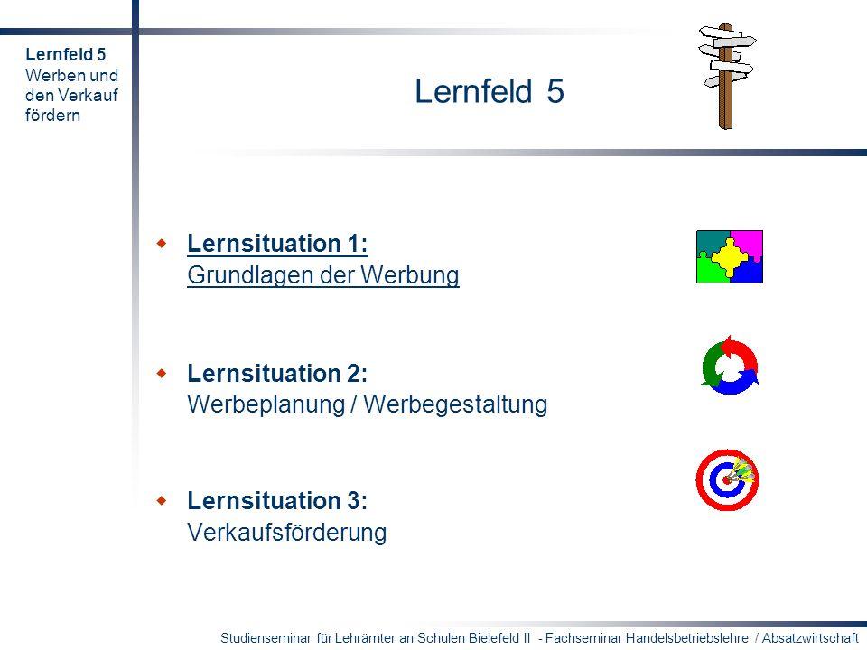 Studienseminar für Lehrämter an Schulen Bielefeld II - Fachseminar Handelsbetriebslehre / Absatzwirtschaft Arbeitsaufträge Bilden Sie 4er-Gruppen und erarbeiten Sie sechs Vorschläge.