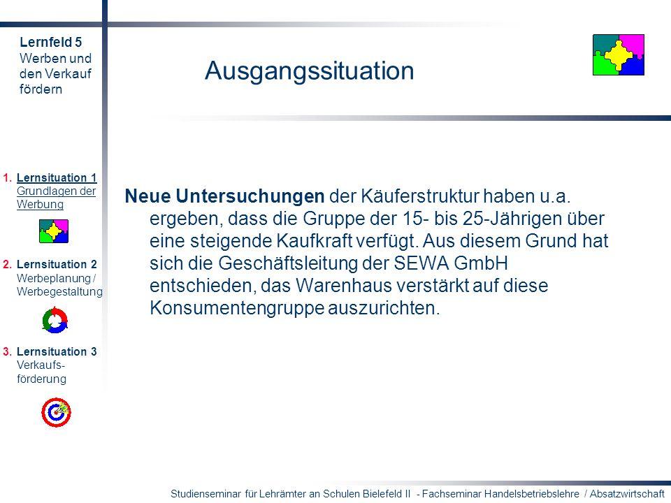 Studienseminar für Lehrämter an Schulen Bielefeld II - Fachseminar Handelsbetriebslehre / Absatzwirtschaft Ausgangssituation Neue Untersuchungen der K