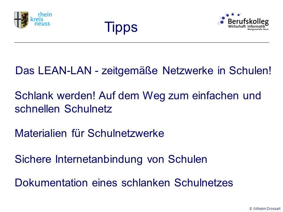Tipps Das LEAN-LAN - zeitgemäße Netzwerke in Schulen.