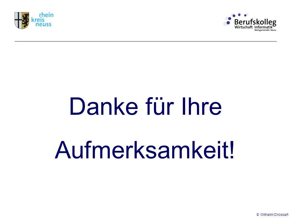 Danke für Ihre Aufmerksamkeit! © Wilhelm Drossart