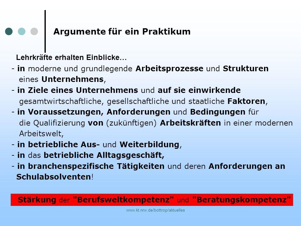 www.kt.nrw.de/bottrop/aktuelles - in moderne und grundlegende Arbeitsprozesse und Strukturen eines Unternehmens, - in Ziele eines Unternehmens und auf