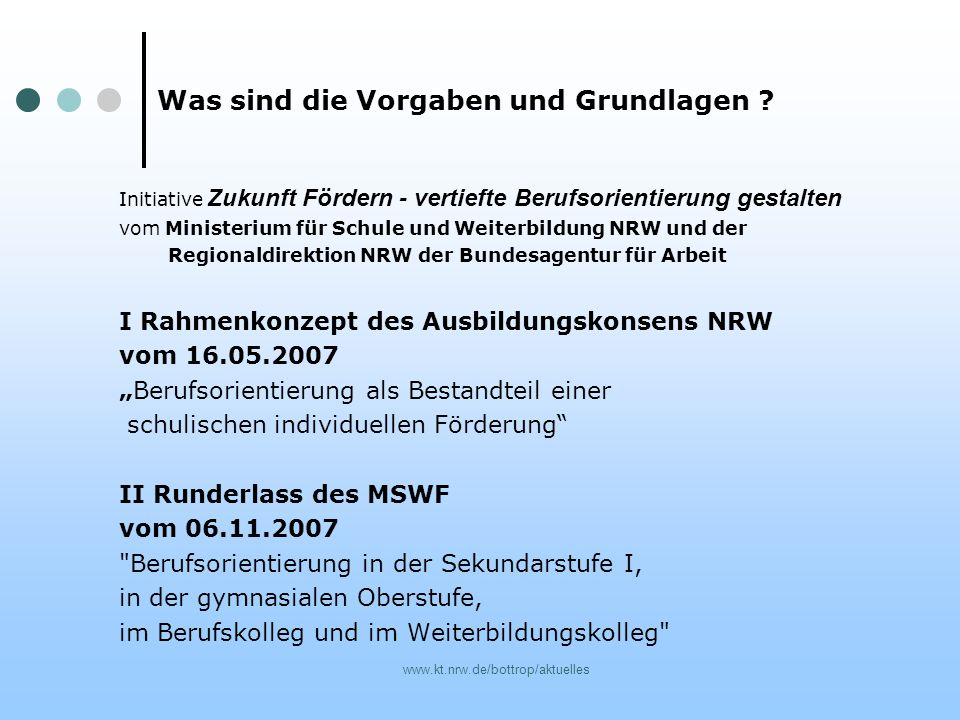 www.kt.nrw.de/bottrop/aktuelles Initiative Zukunft Fördern - vertiefte Berufsorientierung gestalten vom Ministerium für Schule und Weiterbildung NRW u