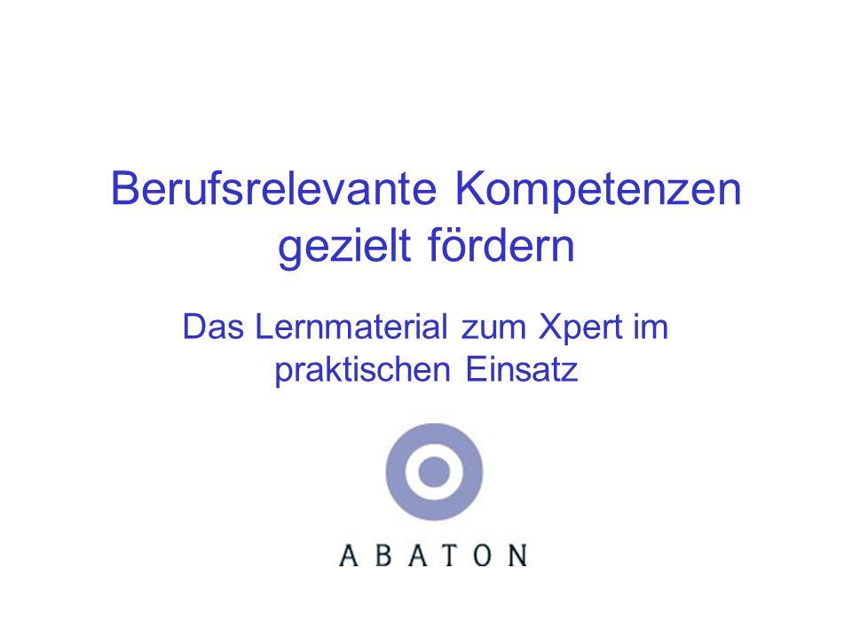 Know-how für Bildungsprojekte ABATON Know-how für Bildungsprojekte Non-Profit-Organisation in Bodenheim bei Mainz Projekte mit Schwerpunkt IT- Kompetenz Zertifikate Xpert und weitere Medienpartner: HERDT-Verlag