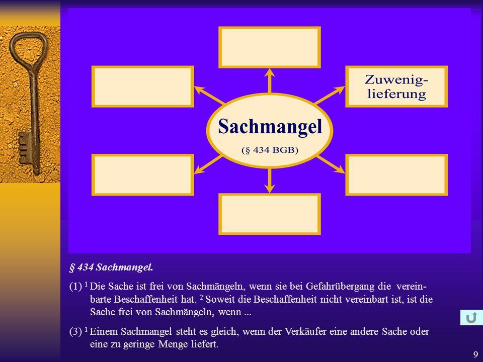 9 § 434 Sachmangel.