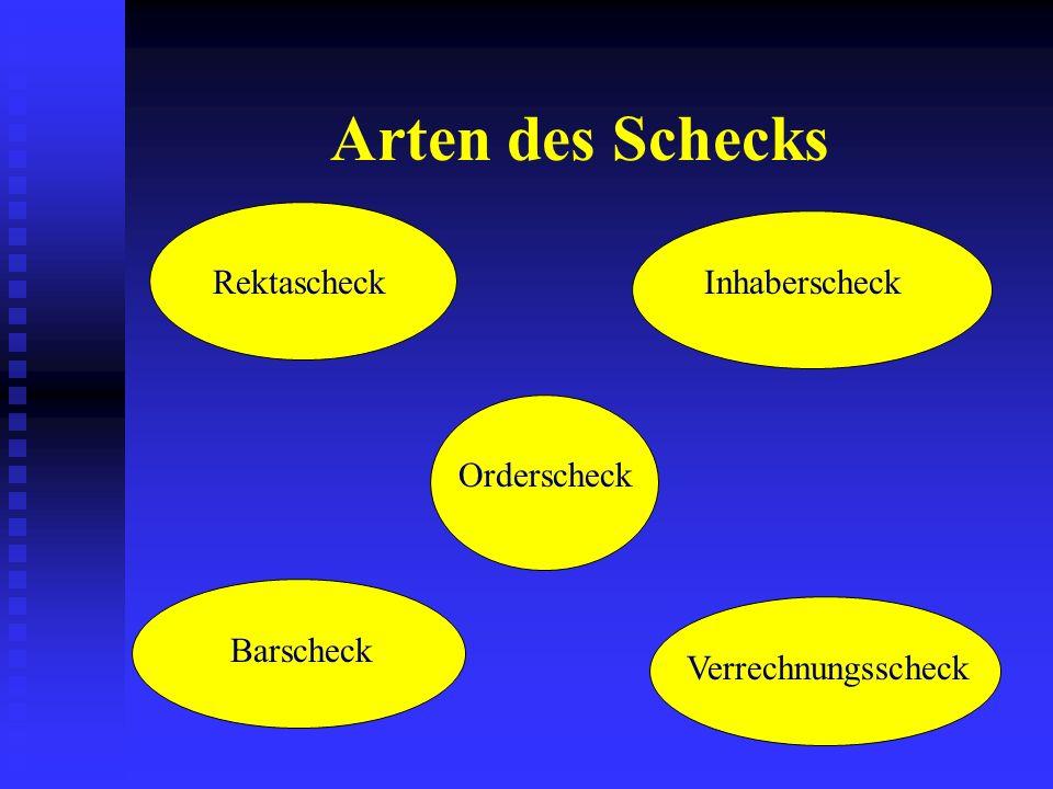 Rechtliche Grundlagen: Bedingungen für den Scheckverkehr Der Scheckvertrag AGB § § § §