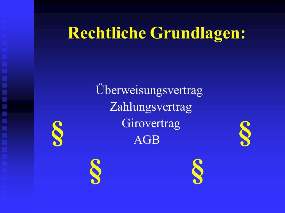 Die Überweisung Buchmäßige Übertragung einer Geldsumme Buchmäßige Übertragung einer Geldsumme Zahlungspflichtiger erteilt seinem KI den Zahlungsauftra