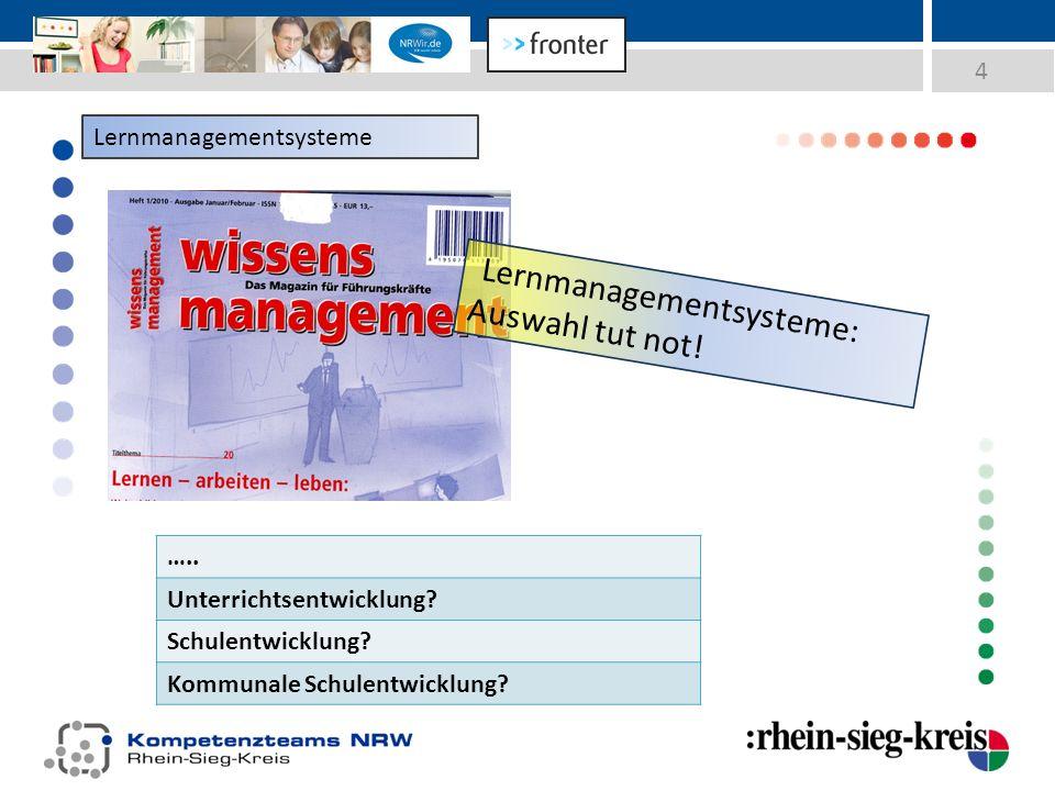 4 Lernmanagementsysteme …..Unterrichtsentwicklung.