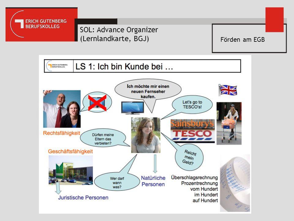 SOL: Advance Organizer (Lernlandkarte, BGJ) Förden am EGB