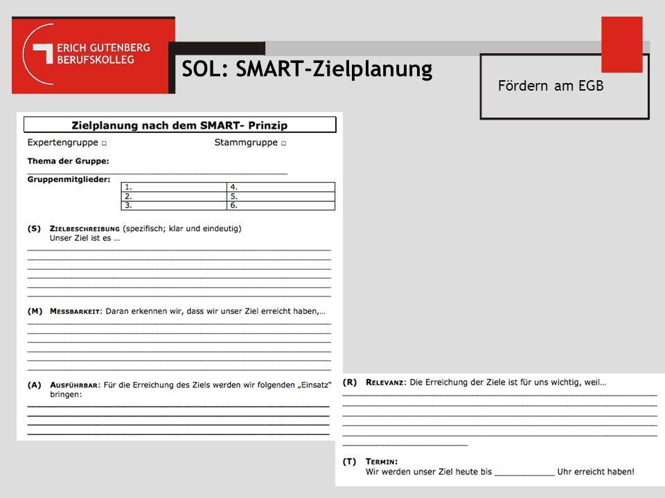 Fördern am EGB SOL: SMART-Zielplanung