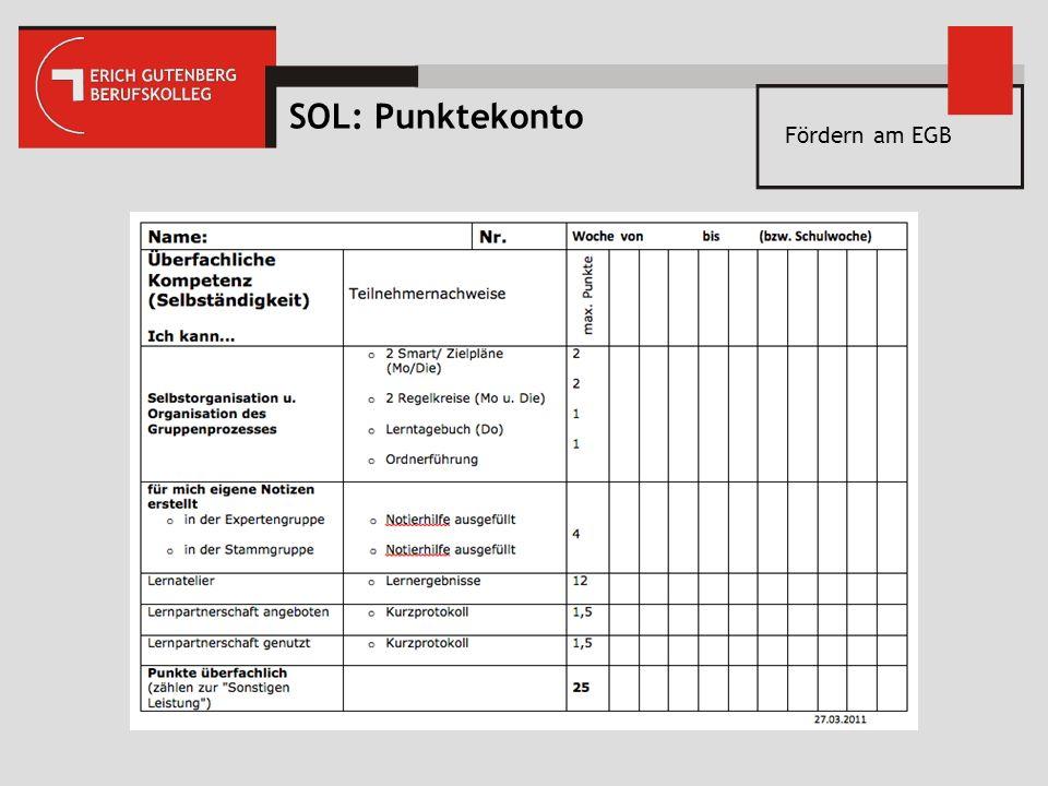 SOL: Punktekonto