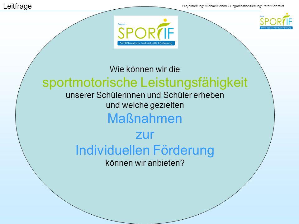 Leitfrage Wie können wir die sportmotorische Leistungsfähigkeit unserer Schülerinnen und Schüler erheben und welche gezielten Maßnahmen zur Individuel