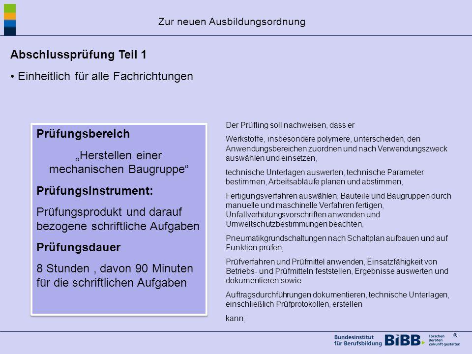 ® Struktur der Ausbildung Am Ende der Ausbildung Teil 2 der gestreckten Abschlussprüfung (IHK) 3 fachrichtungsbezogene Prüfungsbereiche+ Wirtschafts-