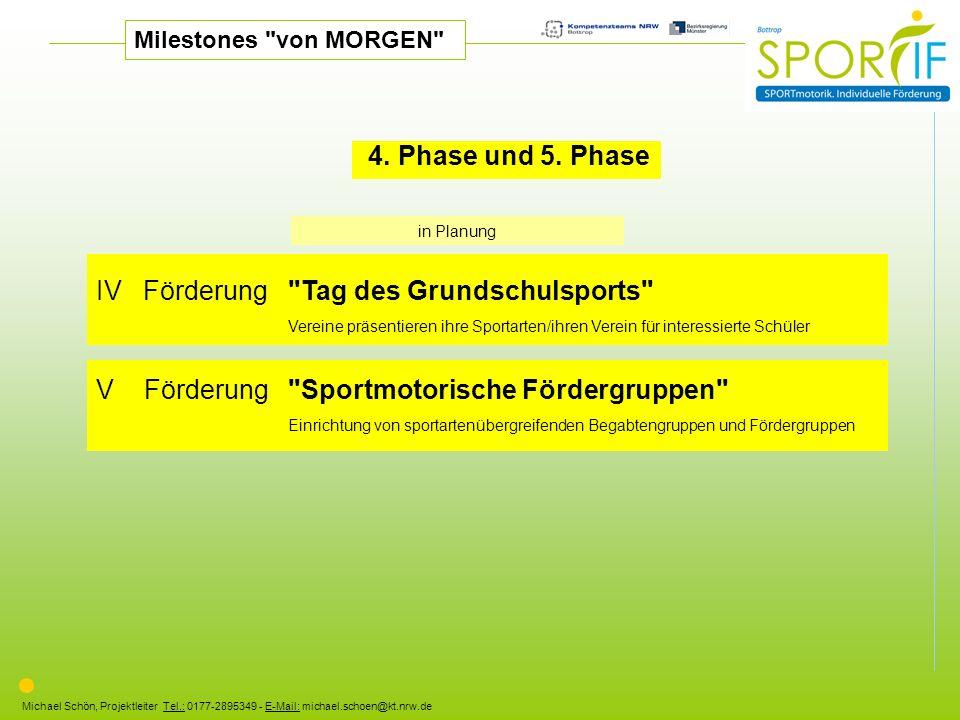 Michael Schön, Projektleiter Tel.: 0177-2895349 - E-Mail: michael.schoen@kt.nrw.de 4. Phase und 5. Phase IV Förderung
