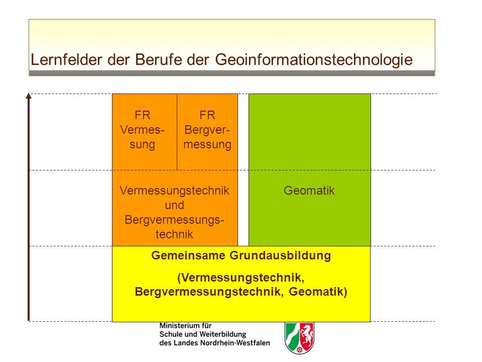 Lernfelder der Berufe der Geoinformationstechnologie Gemeinsame Grundausbildung (Vermessungstechnik, Bergvermessungstechnik, Geomatik) Vermessungstech