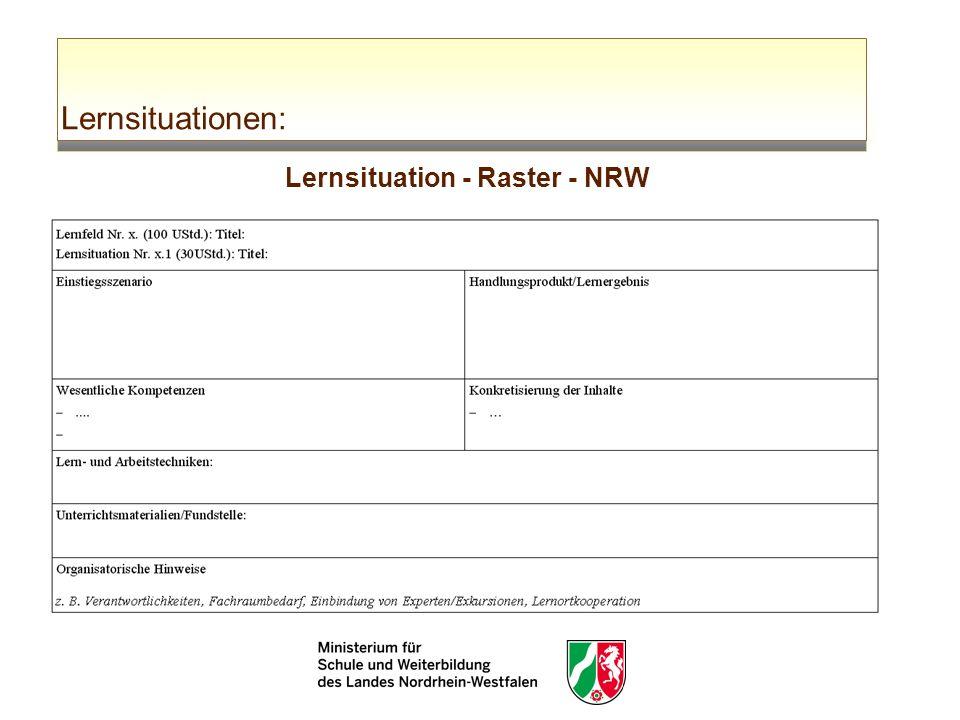 Lernsituationen: Lernsituation - Raster - NRW