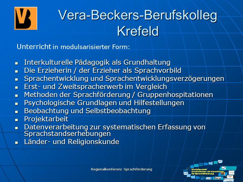 Regionalkonferenz Sprachförderung Vera-Beckers-Berufskolleg Krefeld Interkulturelle Pädagogik als Grundhaltung Interkulturelle Pädagogik als Grundhalt