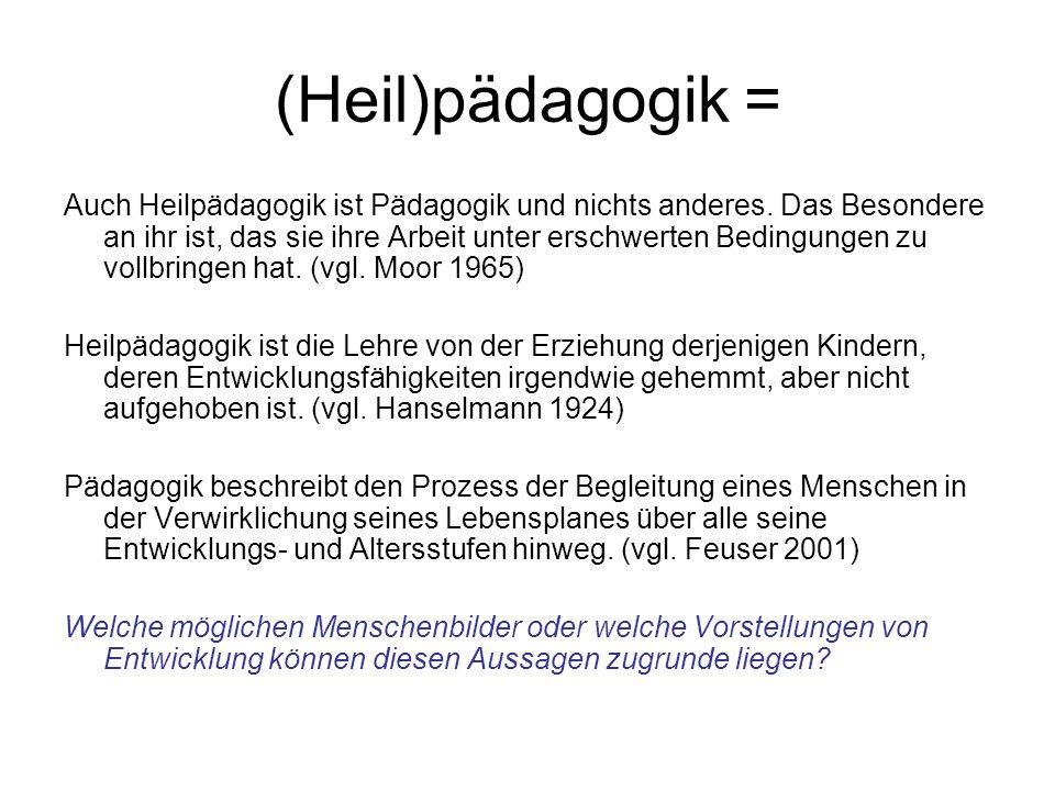 Zentrale Fragestellungen der (heil-)päd.